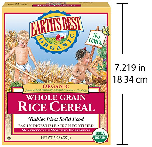 ارخص مكان يبيع Earth's Best Organic Infant Cereal, Whole Grain Rice, 8 oz. Box (Pack of 12)