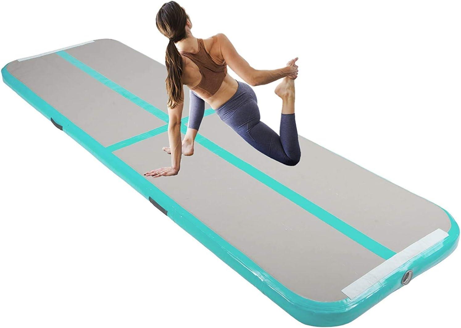 Z ZELUS Air Matte Track aufblasbare Gymnastikmatte Tumbling Matte Gymnastikmatte Turnmatte Bodenmatte Inflatable Taekwondo Yoga Air Track Gymnastics Mat