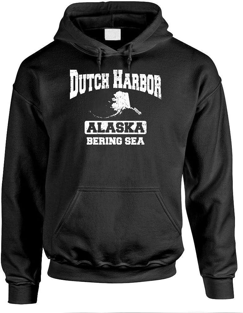 Alaska Crab Fish The Goozler Dutch Harbor Bering SEA Mens Pullover Hoodie