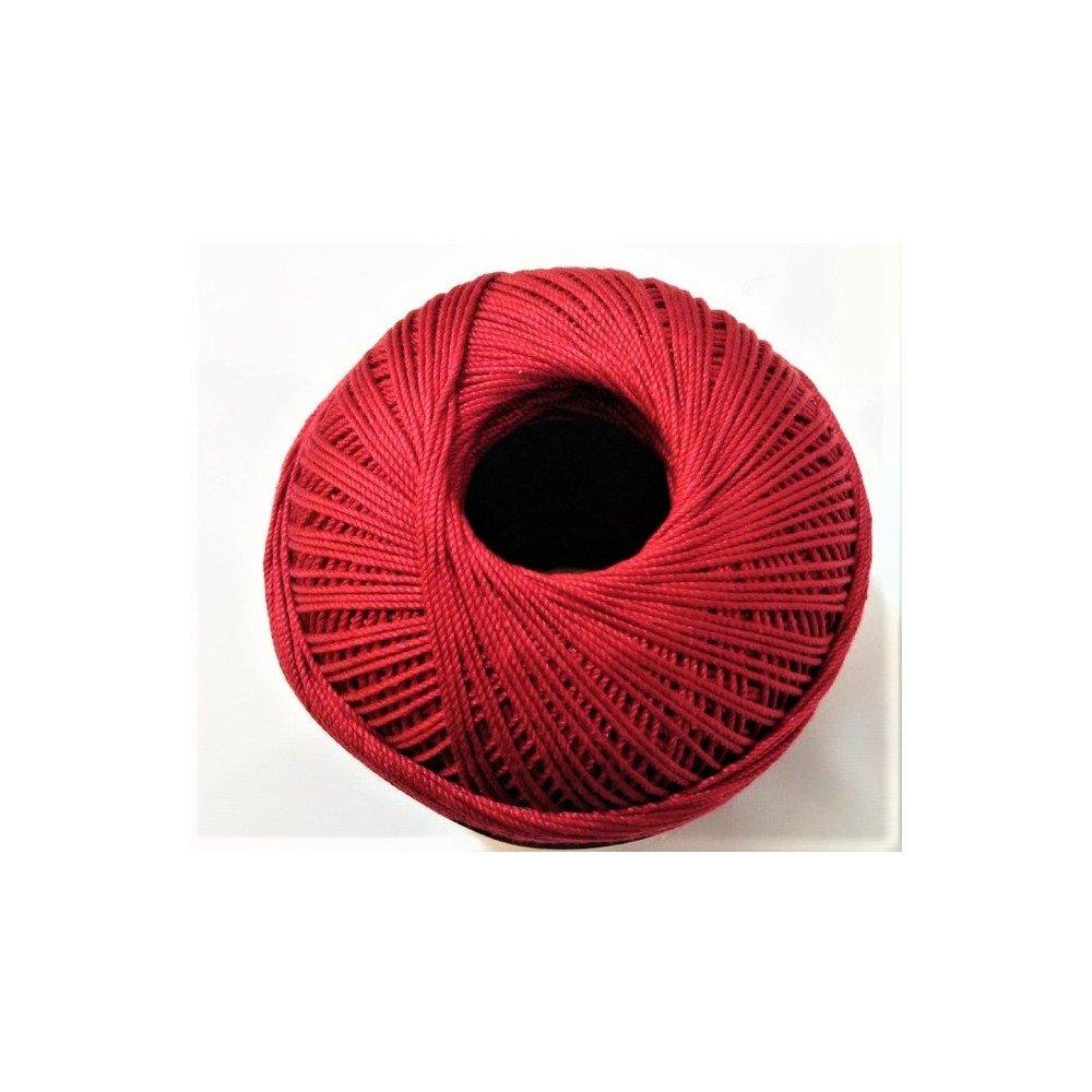 Rosso TOMASELLI MERCERIA Cotone Filo di Scozia per Uncinetto Numero 5 Gomitolo da 100 Grammi