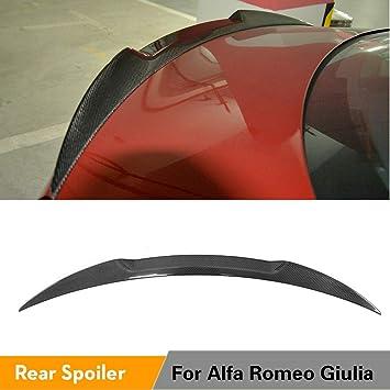 Spoiler Posteriore 3D in Fibra di Carbonio Tronco Ala Spoiler Ala Posteriore Adatto per Alfa Romeo Giulia 2017 Track Pack Style in Fibra di Carbonio Wing