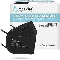 Mea Vita FFP2 masker zwart, EU CE gecertificeerd mond- en neusbescherming conform EN149:2001+A1:2009, adembescherming…