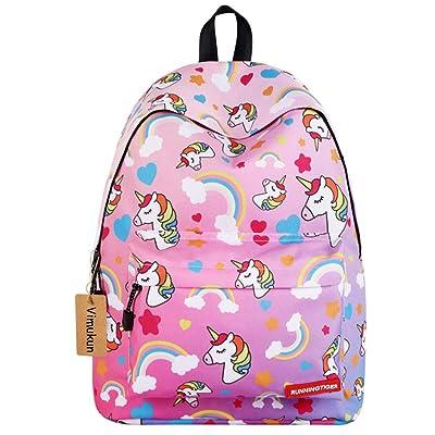 Mochila para niñas Bolso de Escuela,Mochila de Unicornio Mochila -Ideal para Niños de 1 a 6 grado Uso diario del Bolso de Viaje(Rosado): Equipaje