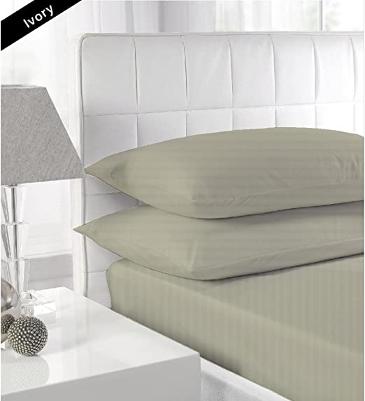 Luxurious Fitted Sheet Light Grey Solid 100/% Cotton 600-TC Extra Deep Pkt