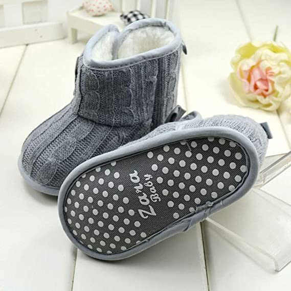 Amazon.com: ❤ Mealeaf ❤ Toddler Kids Baby Boys Girls Snow Shoes Boots Leather Winter Booties Warm Walking Soft Slippers 0-3T: Clothing