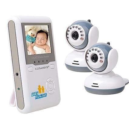 Vigila Bebes con cámara vídeo Baby Monitor inalámbrico supervisión con interfono Visión Nocturna Dormir Modo 2.4