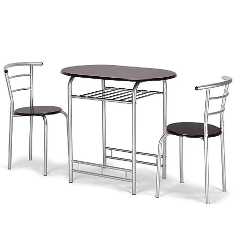 Amazon.com: Giantex - Juego de mesa y 2 sillas de comedor de ...