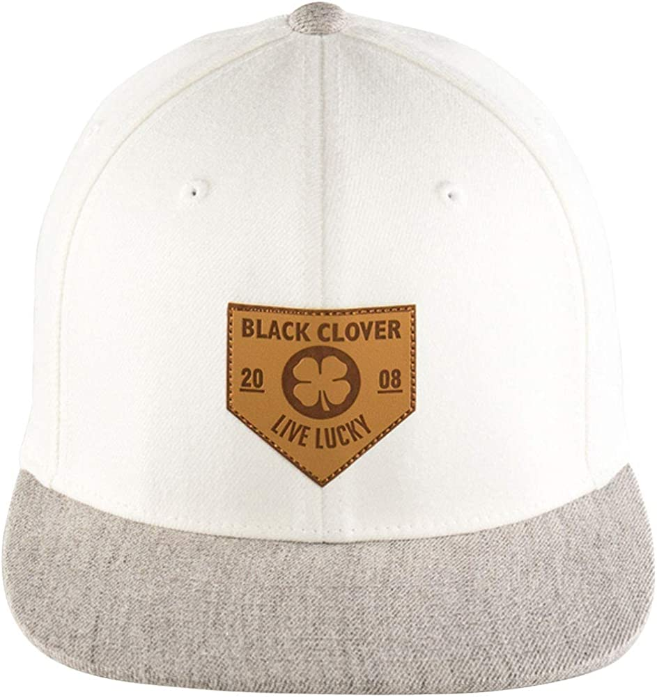 RAWLINGS Black Clover Leather Patch Flat Brim Hat