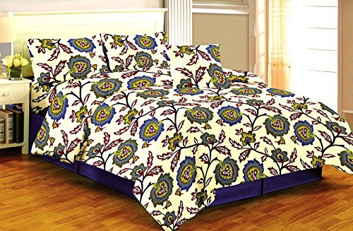 Lowest Price! Printed Bed Sheet Set Queen Designer bed cover Luxurious, Comfortable, Breathable, Sof...