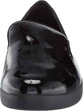 FitFlop Audrey Crinkle Patent Smoking Slippers, Mocasines (Loafer) para Mujer
