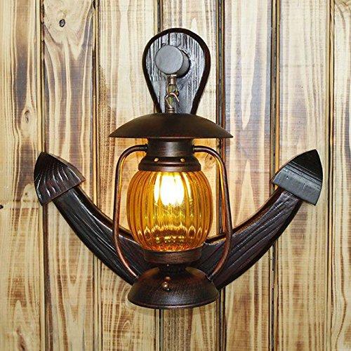 Mediterraner Vintage Kerosin Wandleuchte Holz Verankert Flur Wandleuchter Bar Wand Lampen Cafe Wandleuchte