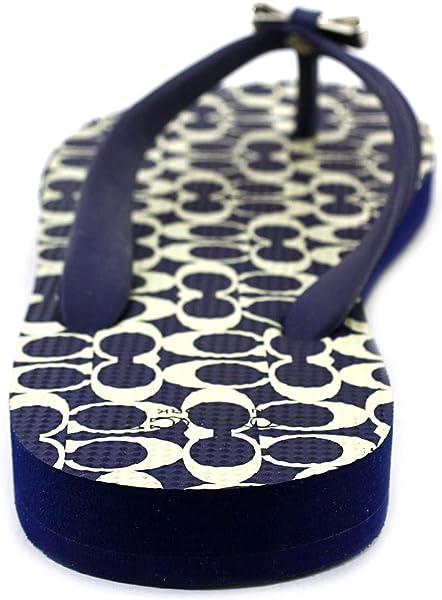 1d0ec6e599d986 Amazon.com  Coach Amel Flip Flop in Capri Blue Milk Size 10 M  Shoes