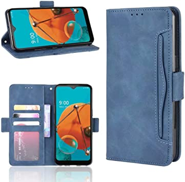 Amazon Com Lg K51 Leather Wallet Case Lg K51 Card Holder Case Blue Futanwei Flip Folio Premium Pu Leather Cover Book Style Business Wallet Case With Card Holder Kickstand Phone Case For