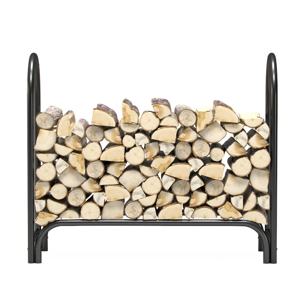 Regal Flame 4 ft Heavy Duty Firewood Shelter Log Rack for Fireplaces and Fire Pits to Enjoy a Real Fire or Complement Vent-Free, Propane, Gas, Gas Inserts, Ethanol, Electric, Indoor Outdoor Fireplaces