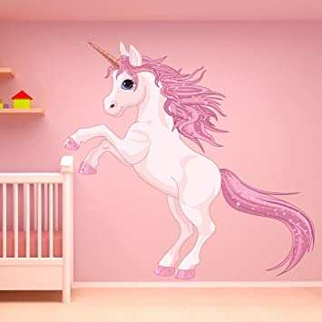 Unicorn Wall Sticker Fantasy Fairy Tale Wall Decal Girls Bedroom Nursery  Decor Available In 8 Sizes