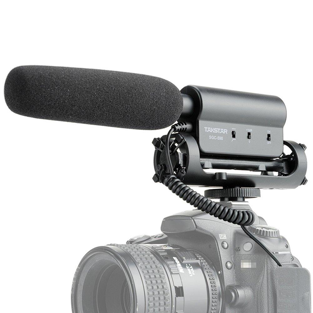 TAKSTAR SGC-598 Interview MC Microphone for Canon Nikon DSLR Cameras, eg Nikon D5200 D5300 D5000 D5100 D5500 D7200 D7000 D3300 D3200 D3000. Inseesi 4332010781