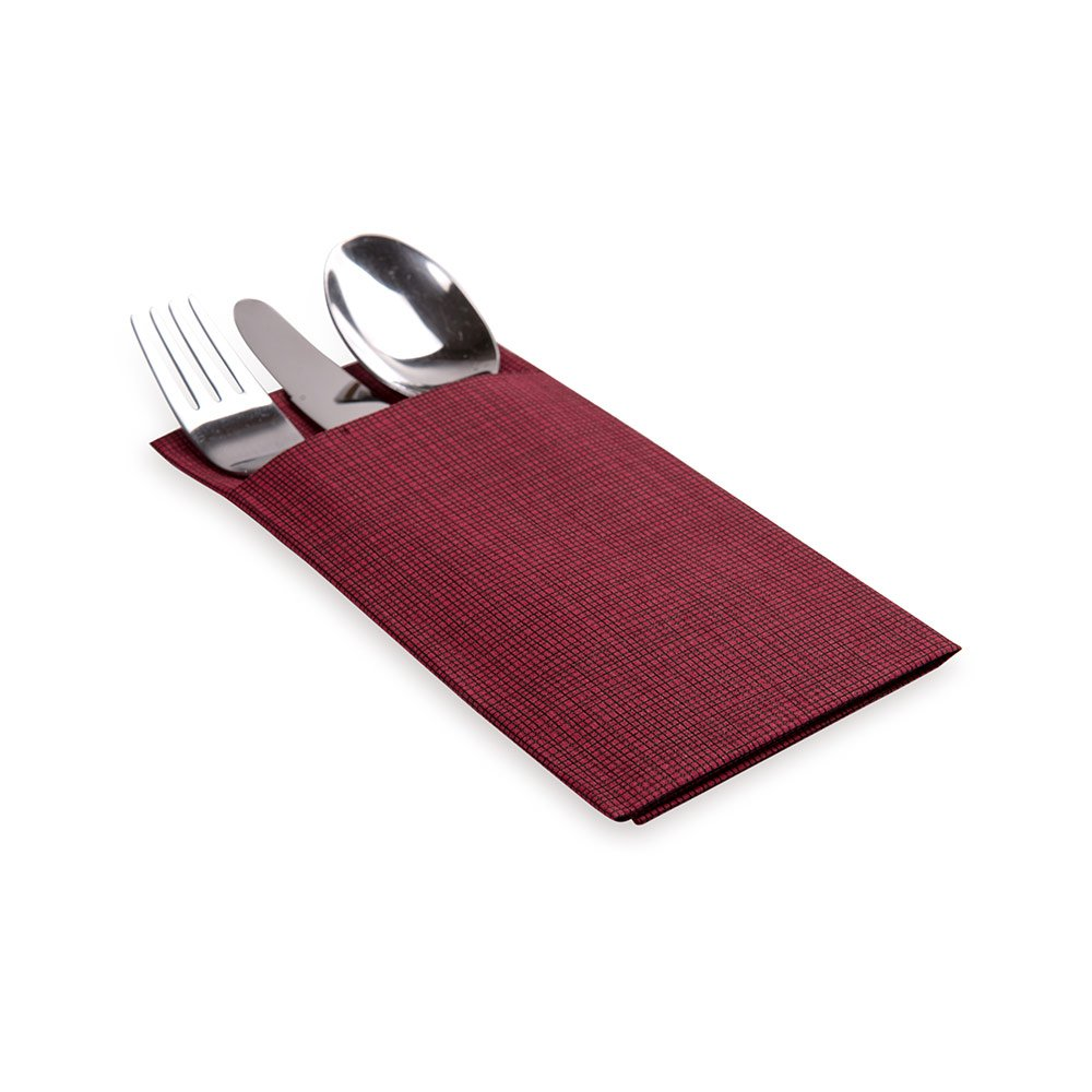 Soft and Durable 16 x 16 Paper Napkins with Built-in Flatware Pocket Disposable and Recyclable Luxenap Air Laid Kangaroo Black Dinner Napkins Restaurantware 40-CT