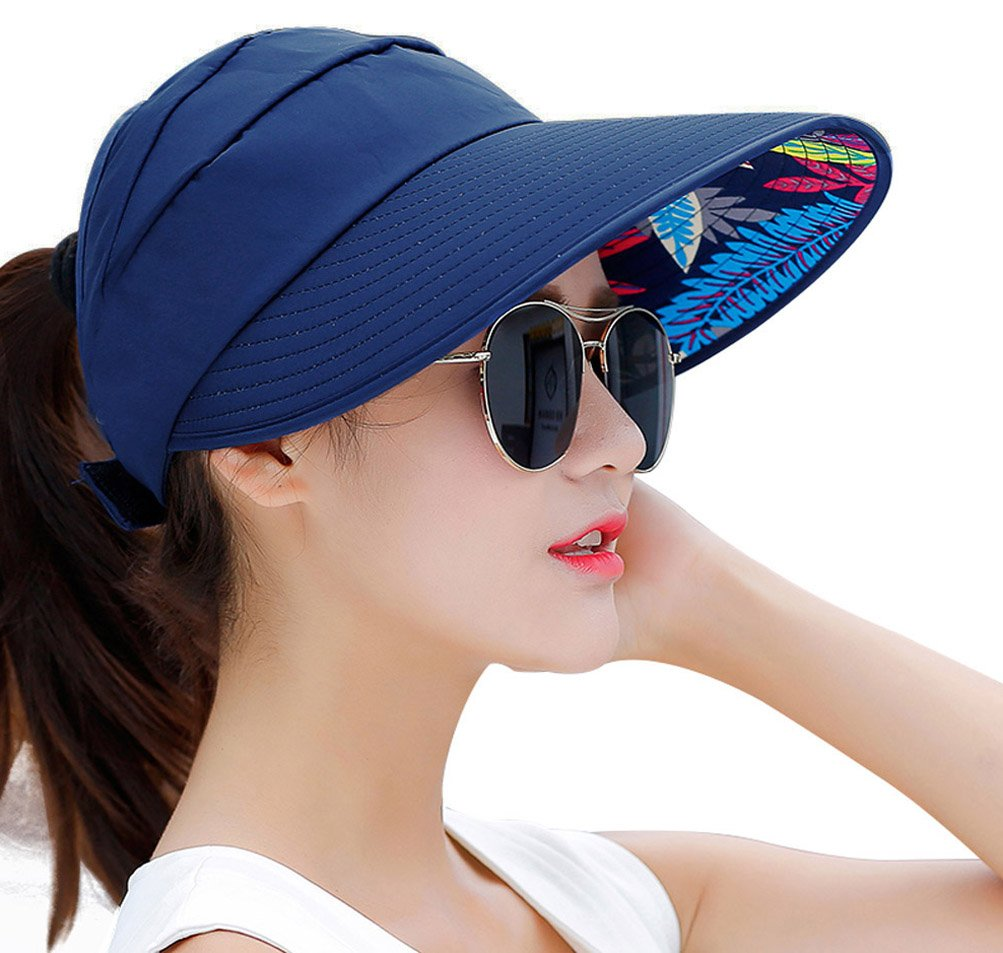 HindaWi Sun Hats for Women Wide Brim UV Protection Visor Floppy Hat Beach Summer Packable Caps by HindaWi (Image #2)