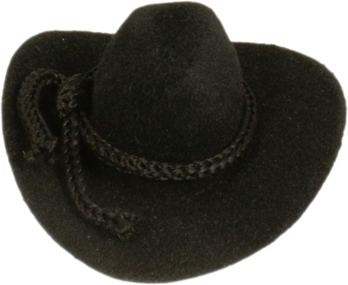 "3/"" WESTERN WEDDING MINI COWBOY HATS FAVOR CRAFTS 12 BLK"