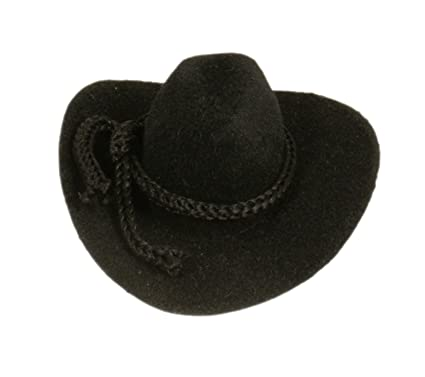 6eb6bb62cddba Amazon.com  12pcs Mini Cowboy Hat Western Wedding Favors Decoration 2 Black  by CalCastle  Kitchen   Dining