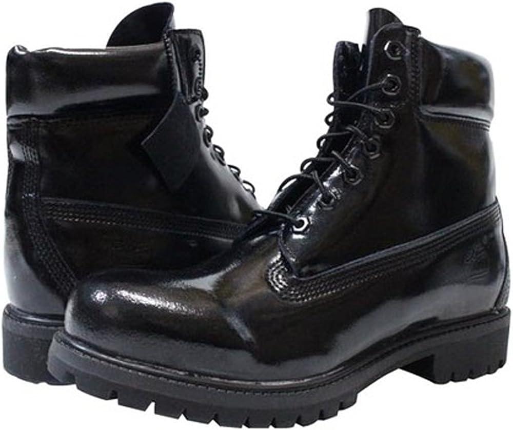 Boots, Black Shiny, UK 9: Amazon.co.uk