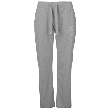 f6298ec285f SoulCal Womens Deluxe Wide Leg Joggers Jersey Jogging Bottoms Trousers  Pants Grey 8 (XS)