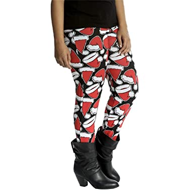e6824f3965 Leggings Women LILICAT Women Stretchy Print Santa Claus Pattern Christmas  Fleece Leggings Autumn Winter Warm Thermo