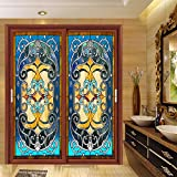 "OstepDecor Custom Opaque Decorative Adhesive Films Glass Stickers 24"" W x 48"" H (One Panel)"