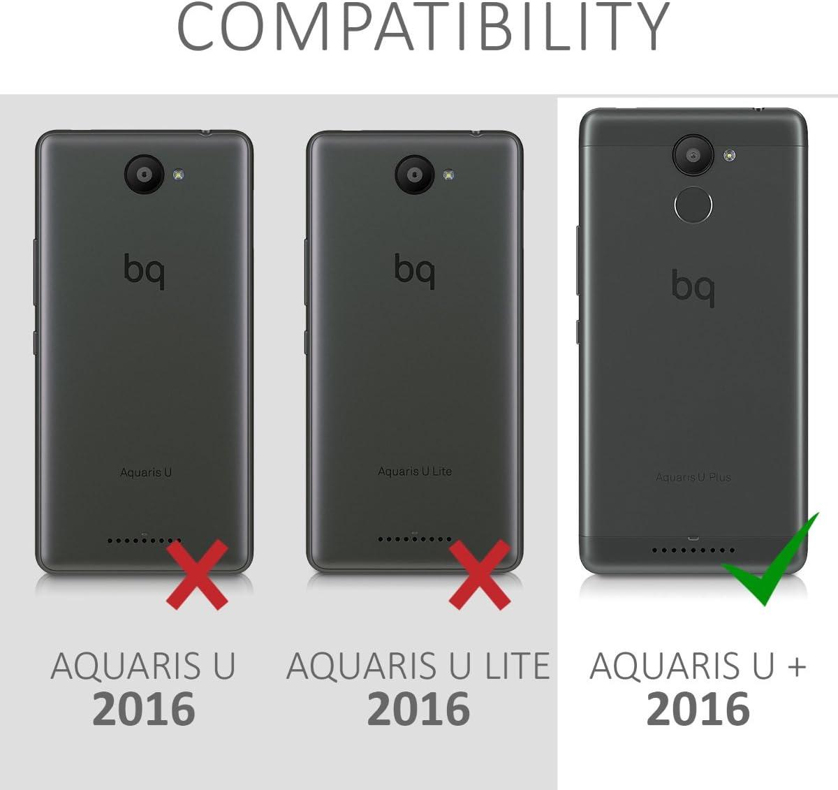 kwmobile Funda Compatible con bq Aquaris U Plus: Amazon.es ...