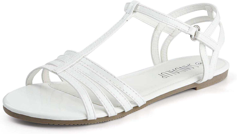 Vintage Sandals | Wedges, Espadrilles – 30s, 40s, 50s, 60s, 70s SANDALUP Flat Sandals for Women with Convenient Velcro $15.99 AT vintagedancer.com