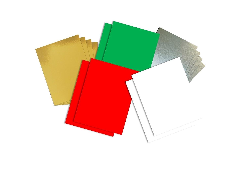 House of Card & Paper, cartoncini e carta di Natale A4, assortiti (confezione da 100 fogli) assortiti (confezione da 100fogli) HCP240