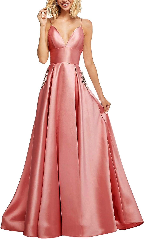 Aox Women Vintage Bandeau High Waist Satin Rhinestone Swing Long Evening Prom Dress Skirt