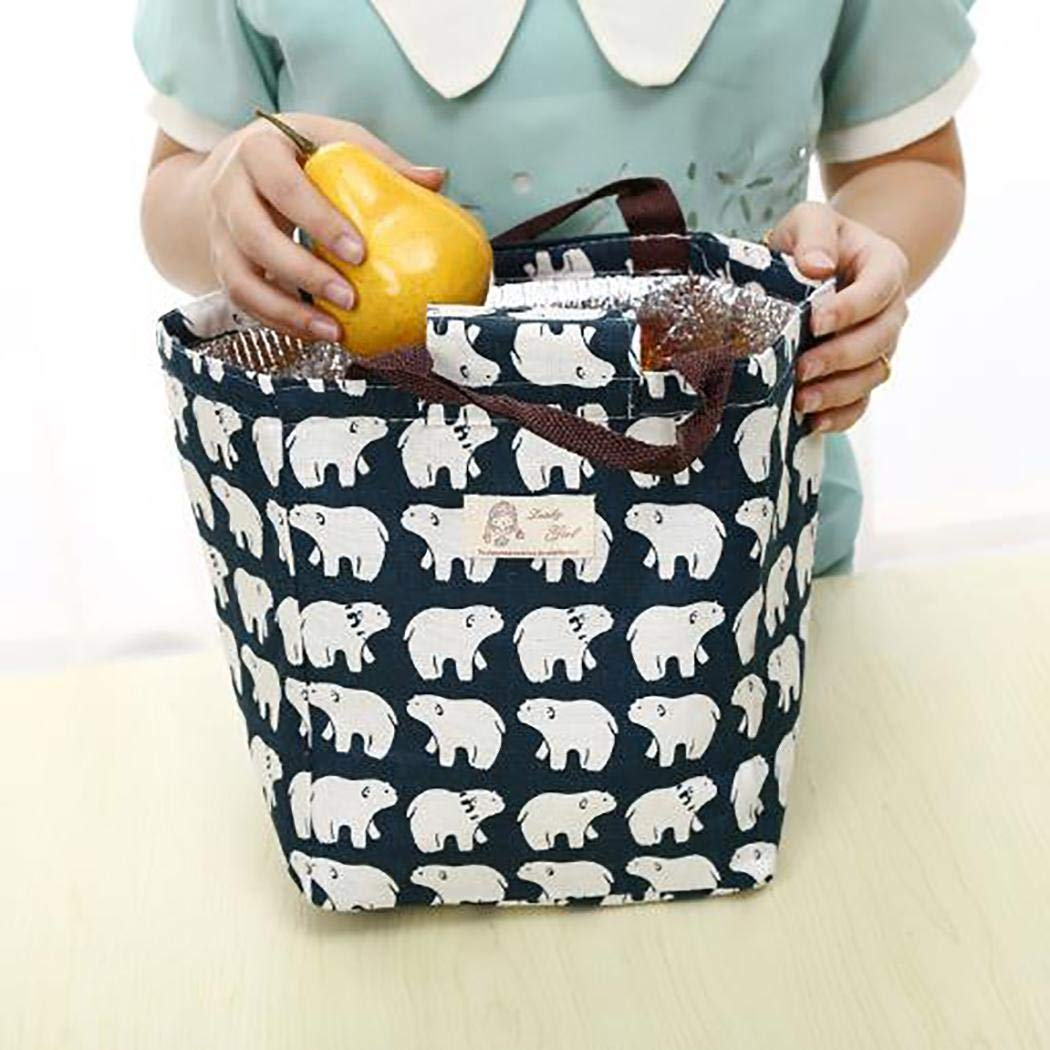 MelysUS Portable Insulated Thermal Lunch Bag Picnic Lunch Container Tote Handbag Lunch Bags