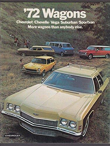 1972 Chevrolet Wagons sales brochure catalog Chevelle Vega Suburban Sportvan +