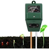3-in-1 Measure Soil pH Level - Soil pH Tester, Plant Tester, Soil Tester for Indoor Outdoor Plants, Flowers