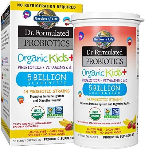 Garden Formulated Kids Strawberry Banana Acidophilus Health Gluten