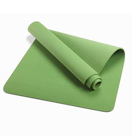 Mats QFFL Estera de Yoga/Manta de Gimnasia Verde ...