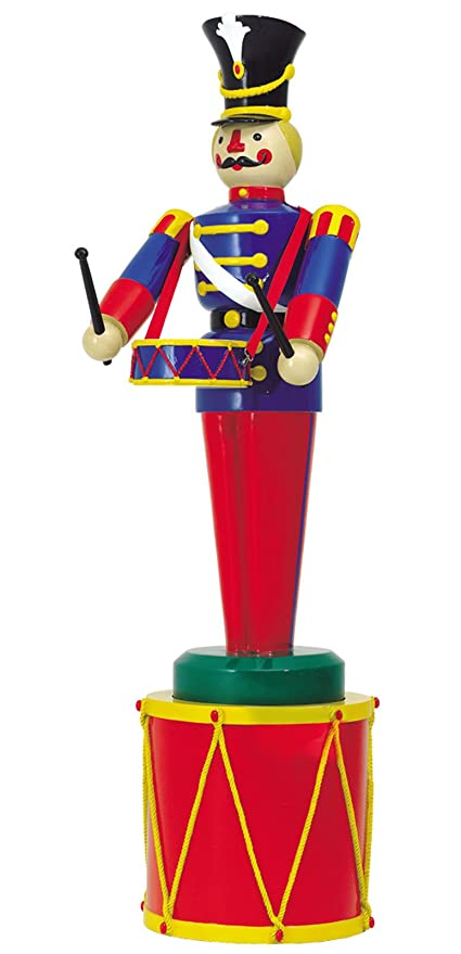 large life size soldier with drum and drum base outdoor christmas decorations ds 55 - Large Life Size Toy Soldier Christmas Outdoor Decorations