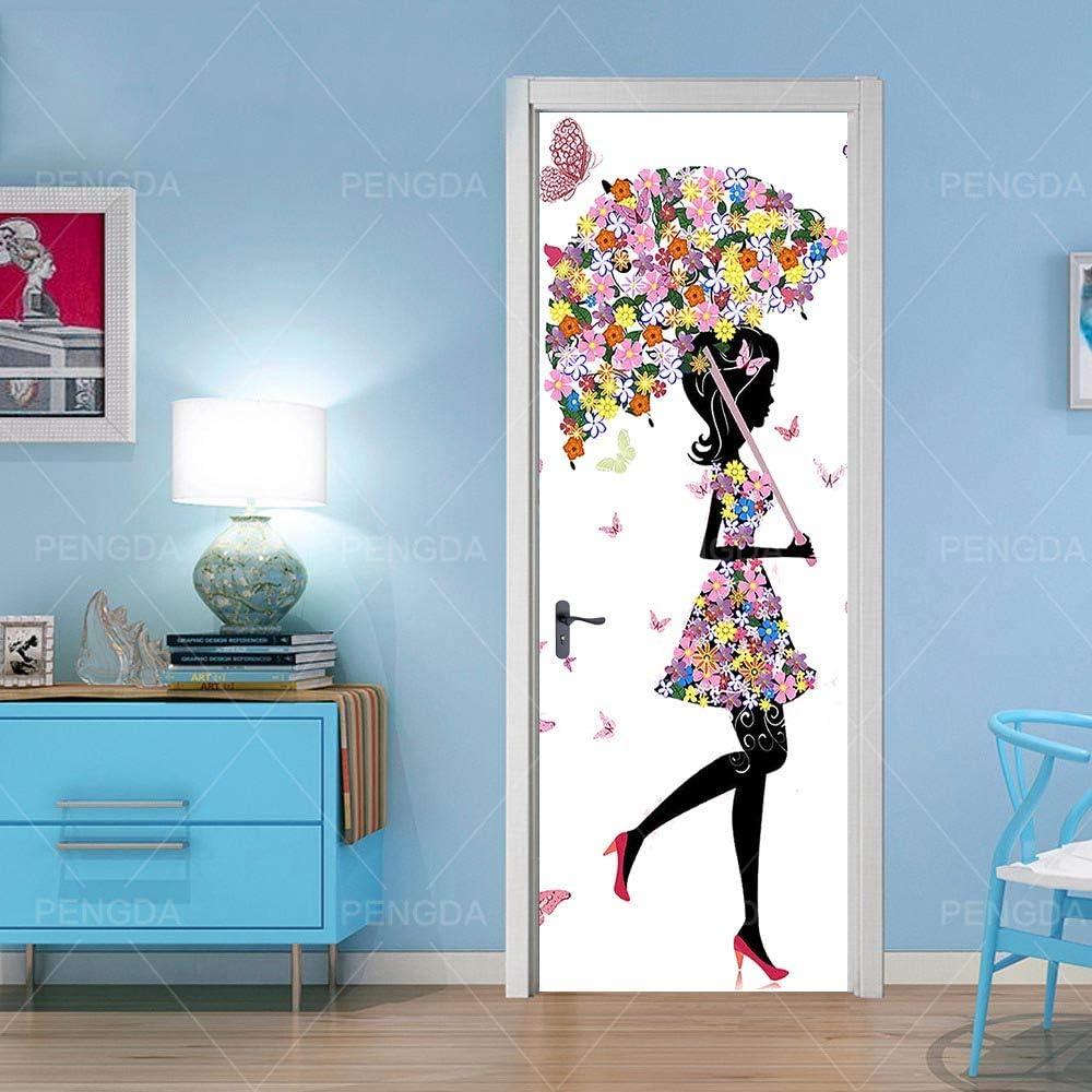 OIODI/® 3D Kreative T/üraufkleber Fu/ßball 77x200cm selbstklebend Innent/üren Art Decals Wandtapete PVC Fototapete Tapete Abnehmbar T/ürfolie Poster Wohnzimmer K/üche Schlafzimmer Dekoration