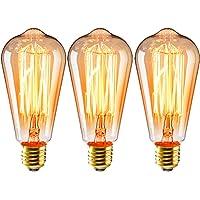 3 unids Edison Bombillas ST64 E27 40W Lámpara