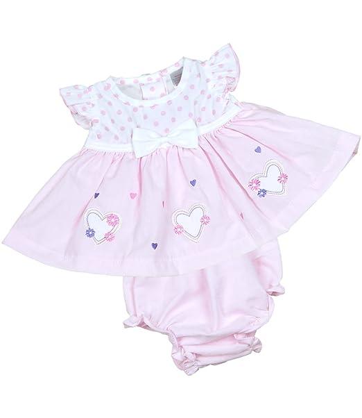 2ee1b0852 Amazon.com  BabyPrem Preemie Baby Dress   Knickers Set hearts Girls ...