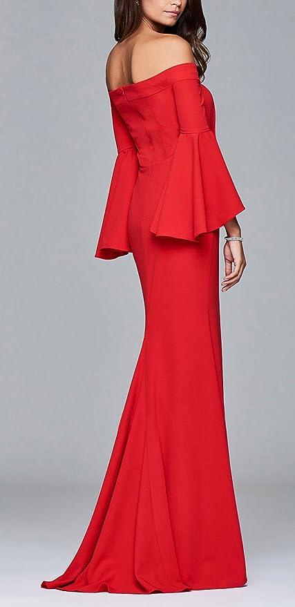 Damen formell klassisch gem/ütlich V Ausschnitt Slim Fit 3//4 Trompeten/ärmel Pailletten Abendkleid Meerjungfrau Kleid