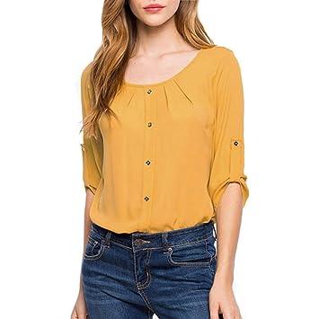 Clearance Ladies Tops,Internet Summer Women Blouse Loose Long Sleeve Chiffon Casual Blouse Shirt Tops