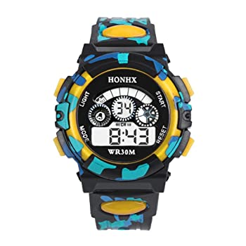 Kids' Outdoor Multifunction Waterproof Sports Watch-Yellow