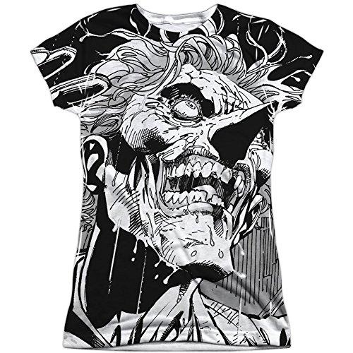 Price comparison product image Batman Joker (Front Back Print) Juniors Sublimation Shirt White MD