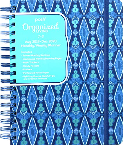 Posh: Organized Living 17-Month 2019-2020 Monthly/Weekly Planner Calendar: Blue Lagoon from Andrews McMeel Publishing