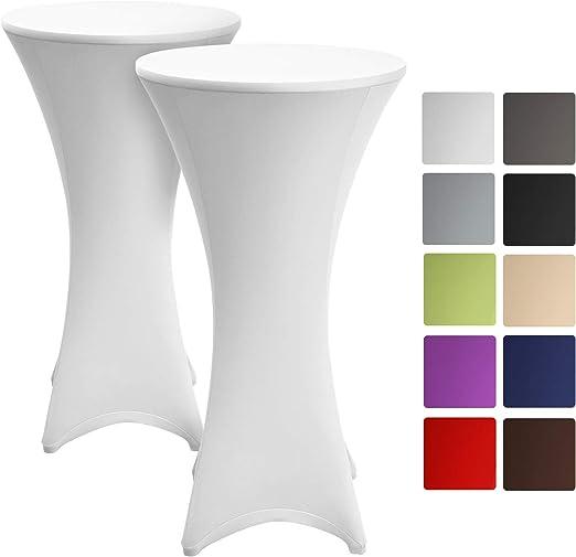 Beautissu Set de 2 Fundas elásticas para mesas Altas de pie Stella ...