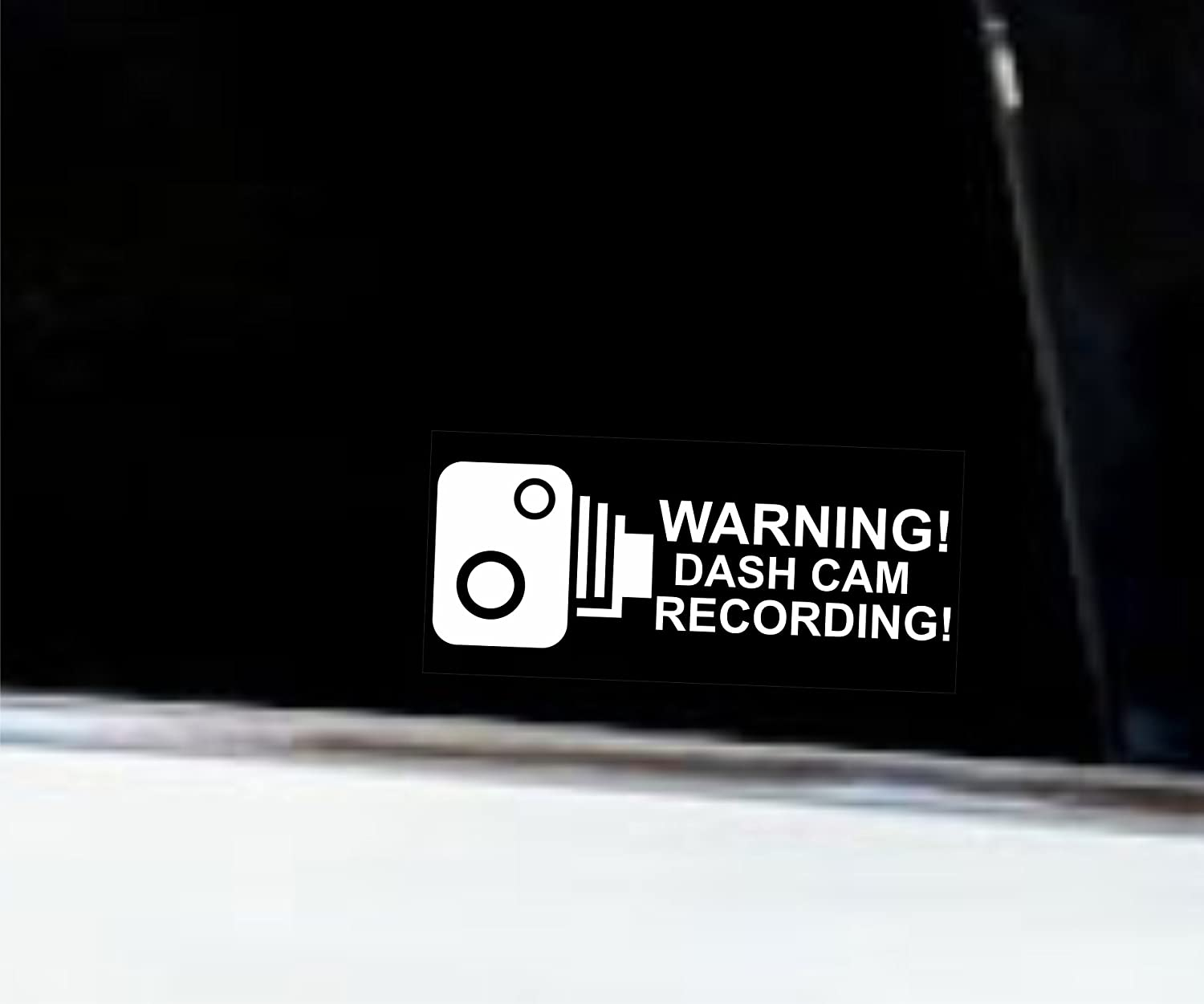 Safety Window Sticker Transparent Inside Van Sticker//Bumper 5 Pieces Truck JDM//Die Cut Security Signs Car Warning Dash CAM CCTV 92x44 mm Taxi,Mini Cab Coach Bus Indigos UG