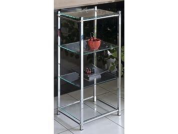 Badregal Glasregal Standregal Chrom 4 Glasboden Amazon De Kuche Haushalt