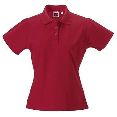 Russell Women s Pima Cotton Polo Shirt - Classic Sports Top  Amazon ... b900e26375